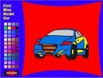 Fast Blue Model Car