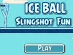 Ice Ball Slingshot Fun