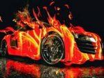Extreme Flaming Car Game